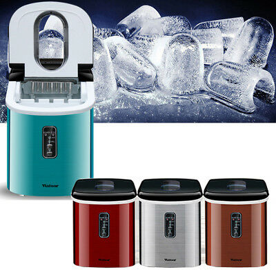 Commercial & Household Portable 35 lb/Day Countertop Desk Ice Cube Maker Machine