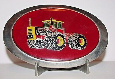 Rare VERSATILE 550  936  945  1150  4WD Tractor Red Enamel Epoxy Belt Buckle