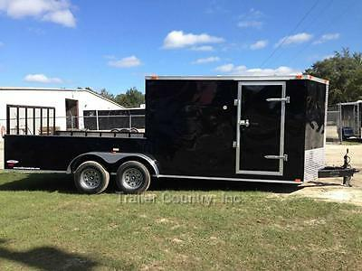 New 2017 7X20 7 X 20 Hybrid Enclosed & Utility Cargo Motorcycle Hunting Trailer