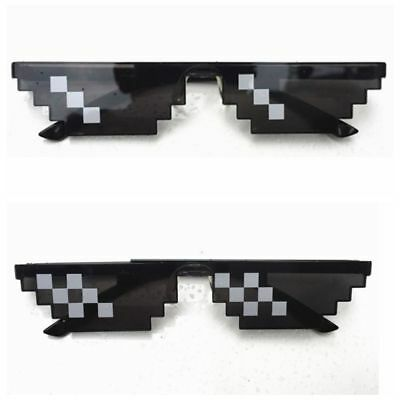 1-20pack Thug Life Glasses 8 Bit Pixel Deal With IT Sunglasses Unisex Sunglasses