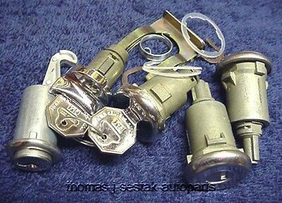 New Door Trunk Glove & Ignition Locks With GM Keys Chevy Impala Full Size 1964