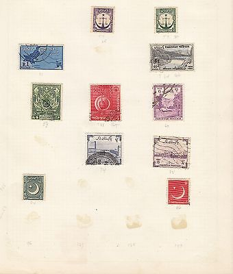 PAKISTAN Collection on Old Album Page stamps removed for shipping