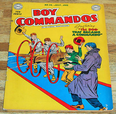 BOY COMMANDOS no.34 DC Comics 1949 original pre-code Golden-age 1st app WOLF !