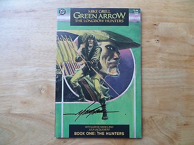 1987 Vintage Dc Green Arrow The Longbow Hunters # 1 Signed Mike Grell, Poa