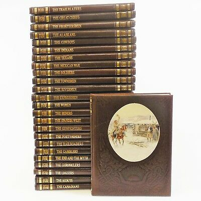 """Lot of 25 Time Life Books """"The Old West"""" Leatherette Illustrated US History"""