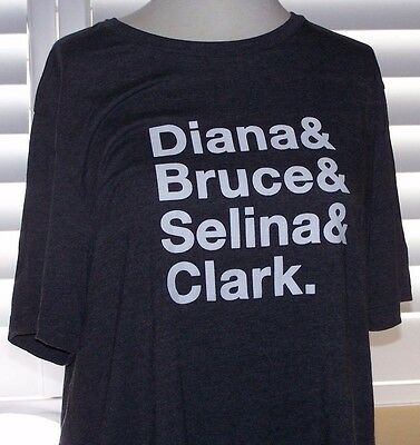 D C Icons-First Names-Unisex T shirt-SDCC Comic Con 2017-Size XL-NEW