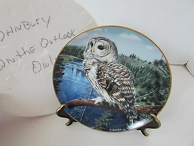 Collector Plate On The Lookout The Majesty Of Owls Danbury Mint #aa7314