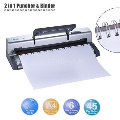 DSB U-Shape Handle A4 Paper Puncher Binder 34/32 Holes Wire Binding Machine G7H8