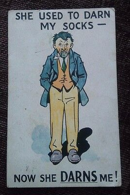 Vintage Saucy Seaside Comic Postcard  Good Condition posted.