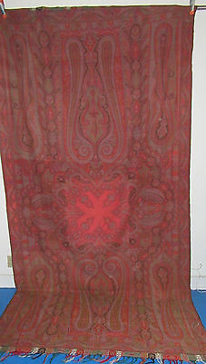 Antique Paisley Shawl Great Condition & Color  Very Large 61 x 122 In