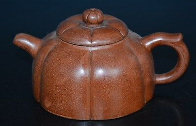 Exquisite Chinese Zisha Purple Sand Teapot Marked Well Carved No Reserve U3182