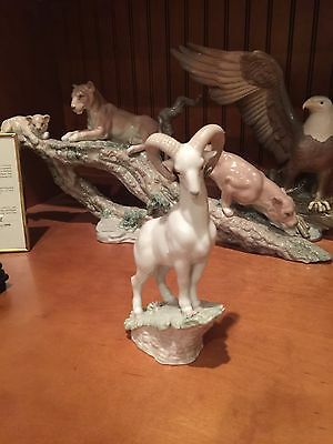 Lladro  The Goat  #6922---New Like With Box And Papers Free Shipping Usa