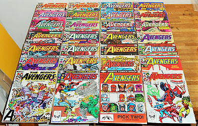 28x Big AVENGERS no.221-250 lot Marvel Comics 1982 Spider-man She-Hulk Ant-Man