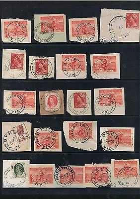 Selection Of Victoria Postmarks On Pre-Decimal Stamps(C).