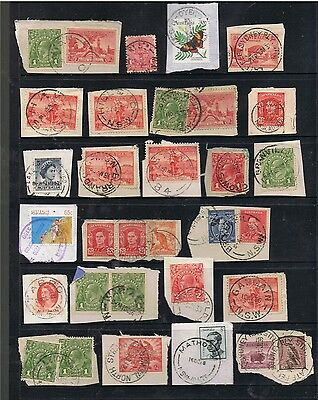 Selection Of N.s.w. Postmarks On Mostly Pre-Decimal Stamps.