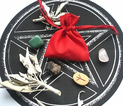 LOVE MOJO BAG WITH INSTRUCTIONS Wicca Pagan Witch Goth
