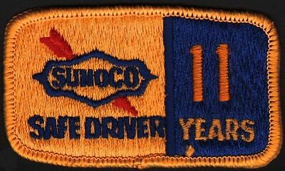 Vintage uniform patch SUNOCO SAFE DRIVER 11 Years unused new old stock n-mint+
