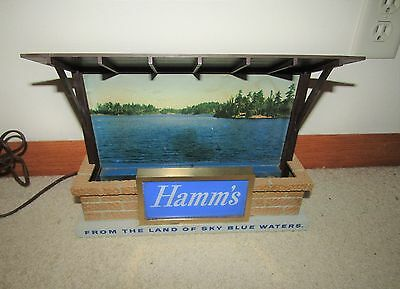 HAMM'S beer 1950's BROWN ROOF SHALET BACKBAR LIGHTED SIGN