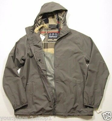 Barbour Men's Gray Langley Waterproof & Breathable Hooded Full Zip Jacket