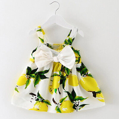 Baby Girl Clothes Sleeveless Infant Summer Outfit Princess Gallus Dress 12M US