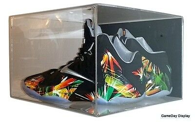Wall Mount Shoe Pair Display Case size 12 and under by GameDay Display