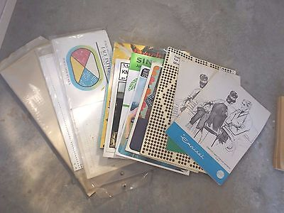 Collection of machine knitting patterns books and cards