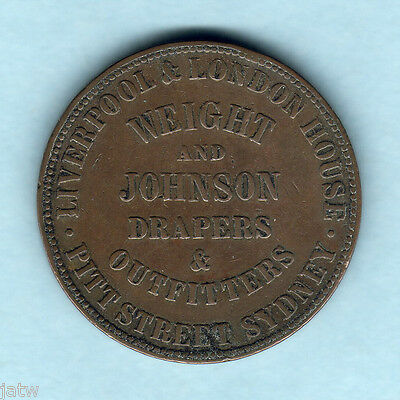 Australia Token.  Weight & Johnson.. 1d -  Sydney NSW..  VF