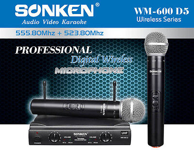 Professional Uhf Wireless Microphones - Set Of Two