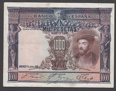 1000 Pesetas From Spain 1925 A1