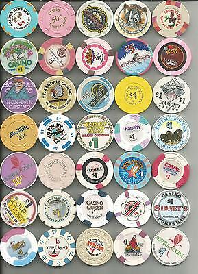 Misc Lot Of 35  Misc Casino Chips #5