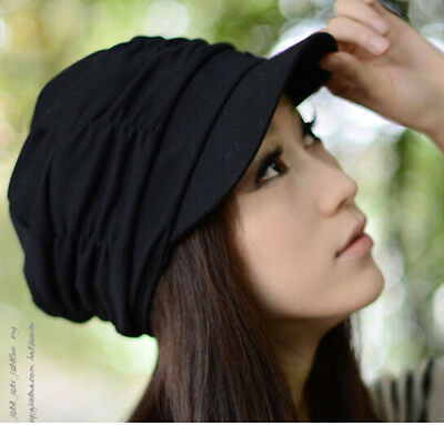 New Fashion Women Braided Warm Baggy Winter Knit Crochet hat Black