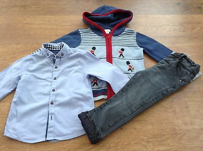 Next  Monsoon Boys Small Bundle/outfit 18-24Mths Shirt Jeans Cardigan