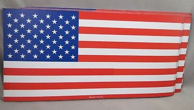 WHOLESALE LOT OF 9 US FLAG MAGNET MADE IN USA AMERICA TRUMP $ bumper sticker new