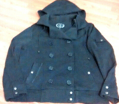 AMBIANCE black warm hoodie winter double breasted women;s jacket 3X