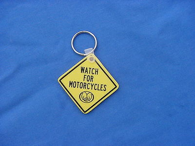 Key Chain Watch Out For Motorcycles Sign
