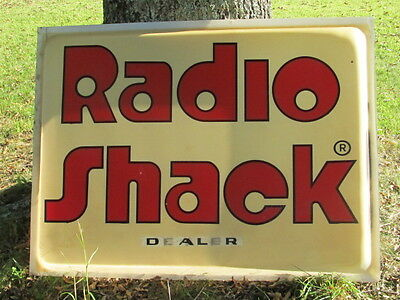 """Radio Shack Dealer""   Sign   (Plastic Face Only)  1978 From my store 48 x 36 x3"