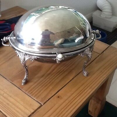 Antique Silver Plate Warming Dish