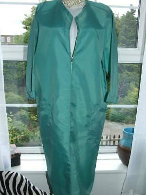 Vtg Rustly Nylon Overall Dinner Lady Housework Hairdressing [H44