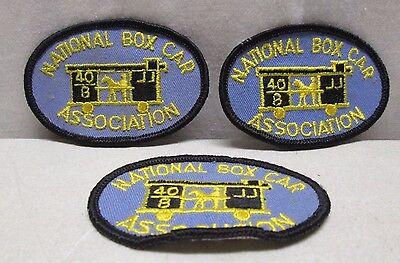 Lot of 3 Vintage National Box Car Association Patches Patch Embroidered