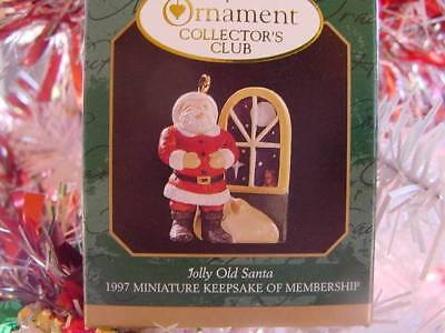 NEW Jolly Old SANTA CLAUS Night Before CHRISTMAS Hallmark Miniature 1997 Ornamnt