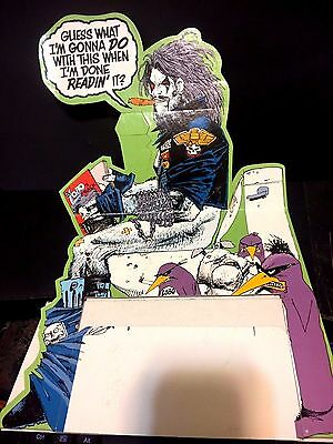 LOBO'S BACK Cardboard DC PROMOTIONAL Dealer Sign COMIC Holder Unused SCARCE RARE
