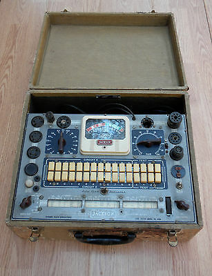 Vintage Jackson Tube Tester~648~Untested But Nice Looking~Wood Casefree Shipping