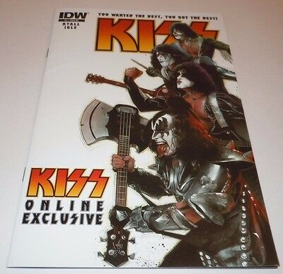 KISS #1 Comic IDW Online Exclusive VARIANT Dressed to Kill 2012 1st Print First