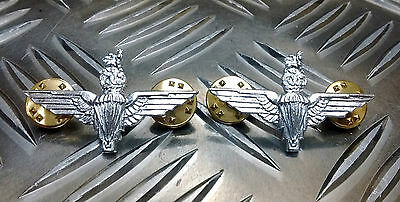 Genuine British Army The Parachute Regiment Metal Badge / Collar Dogs Brand New