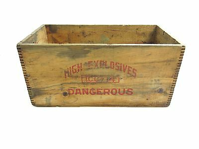 Antique Independent High Explosives 25 Pound Wooden Dovetailed Box