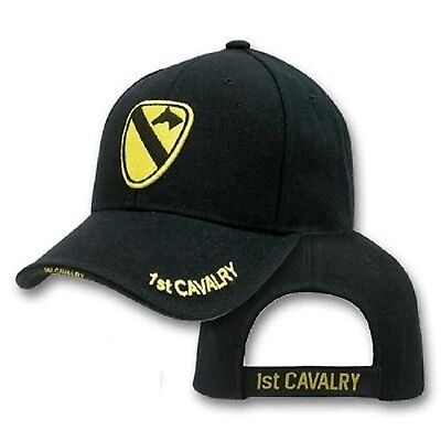 1st Cavalry Division THE FIRST TEAM US Army Cap Mütze mit gesticktem Wappen