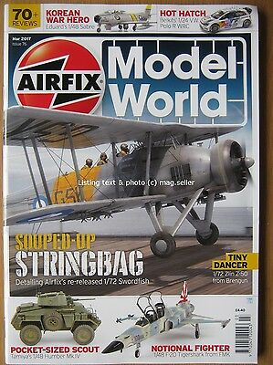 Airfix Model World March 2017 1/72 Swordfish 1/48 Sabre 1/24 VW Polo R WRC