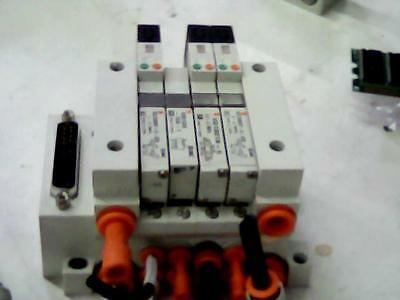 SMC VV5Q11-ULB000101 Pneumatic Base Manifold with 4 Solenoid Valve