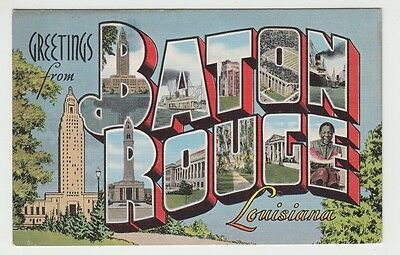 [65349] Old Large Letter Postcard Greetings From Baton Rouge, Louisiana