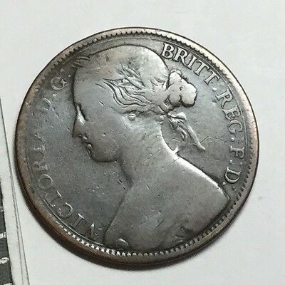 GREAT BRITAIN 1862 1 Penny coin circulated